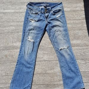 AEO original boot distressed jeans size 4